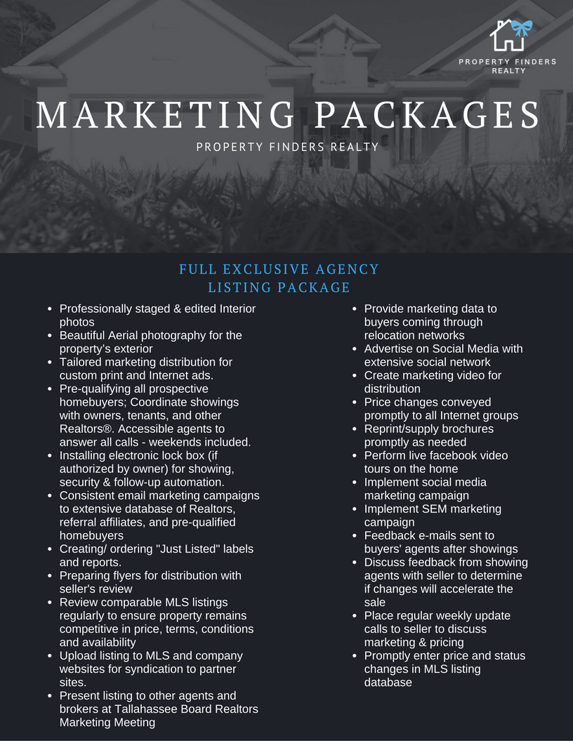 Complete Listing Package For Tallahassee Home Sellers